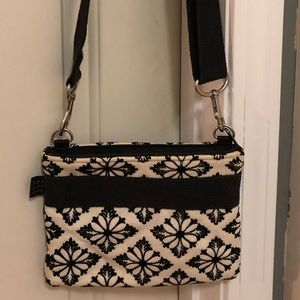 Fabric crossbody purse